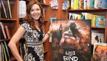 """DianaRodríguez Wallach was at Head House Books, Philadelphia, presenting """"Lies that Blind"""", the second book of her YA trilogy """"Anastasia Phoenix"""". Photo: Peter Fitzpatrick/AL DIA NEWS"""
