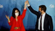 El PartidoPopular madrileño consiguió65 de 136 escaños en las elecciones regionales. Photo: Europa Press