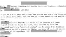 Screenshot of the declassified files. Photo: FBI