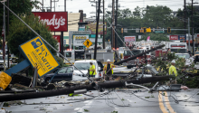 The remnants of Hurricane Ida spawned a tornado that made landfall in Annapolis, Maryland, Wednesday afternoon. Photo Credit: Drew Angerer/Getty Images.