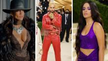 JLo, Maluma and Camila Cabello at the Met Gala 2021. Photo: Instagram captures.