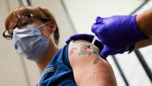 The third dose of the Pfizer vaccine has not yet been licensed by the FDA. Photo: Getty Images