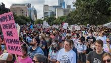 Pro-choice protests in Texas.
