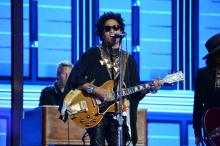 Lenny Kravitz performs at the 2016 Democratic National Convention in Philadelphia, PA. Photo: Peter Fitzpatrick/ AL DIA News