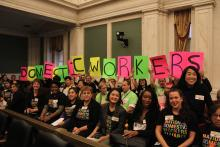 Philadelphia Domestic Workers were out in force on the day the Domestic Worker Bill of Rights passed City Council, Oct. 31, 2020. Photo: Emily Neil/AL DÍA News.