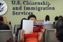 On Dec. 1 2020, the USCIS unveiled a new version of the citizenship test, which was met with widespread criticism. Photo: John Moore/Getty Images