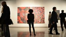 """The exhibit """"Drapetomanía: Grupo Antillano and the Art of Afro-Cuba"""" will be on display until March 20 at the African American Museum of Philadelphia . Peter Fitzpatrick/ AL DÍA News"""