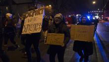 Protest march against Donald Trumpin Minessota, November 2016. Photo: Wikipedia