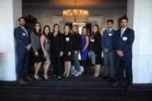 Members of the Hispanic Bar Association of Pennsylvania during the 2018 scholarship dinner event. Photo Courtesy of James P. Faunes/HBAPA