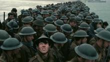 Tropas británicas durante la Segunda Guerra Mundial en 'Dunkirk', última producción del director Christopher Nolan. Crédito: Warner Bros.