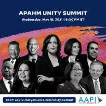 """""""From Victory to Unity"""" AAPI Summit will be headlined by Vice President Kamala Harris. Photo: AAPI Victory Alliance Twitter"""