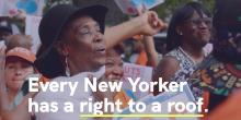 Everyone deserves the #RighttoARoof. Photo: Make the Road NY