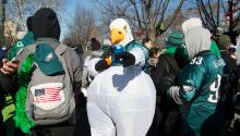 Thousands of fans welcomed the Super Bowl champions: Philadelphia Eagles. Photo: Samantha Laub / AL DÍA News