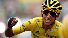 Con 22 años, Egan Bernal se convierte en el primer ciclista colombiano en ganar el Tour de Francia. Foto: Christian Hartmann/Reuters