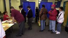 Voting station in Philadelphia. Archive AL DÍA News.