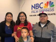 Elizabeth Esteban y su familia. Foto extraida de Gofundme, entrevista para NBCnews.