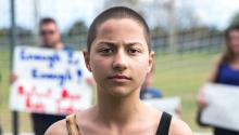 Emma Gonzalez, a senior at Marjory Stoneman Douglas High School in Florida, has become the image and voice of the youth movement that aims to change things in the country. Source: http://people.com/