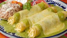 In Mexican cuisine, corn and chile are the base ingredients for various dishes including the popular enchiladas.