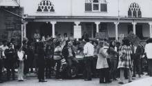 Protesta contra Richard Alatorre, años 60. Photo: Nancy Von Lauderback Tovar -Archivos de Lydia López.