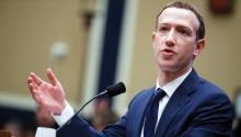 Mark Zuckerberg during his hearing before Congress. Source: EFE.