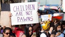 Protests against the separation of families. Source: TSON News.
