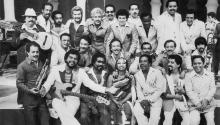 Members of La Fania All Stars. 1980. Judy Morales/Fania Records.