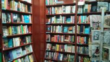 Fiction section at Big Blue Marble Books, Mt. Airy, Philadelphia. Indie bookstores are very neighborhood center. Photo: Big Blue Marble Books