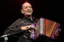 Leonardo 'El Flaco' Jimenez. Photo by Gary Miller. FILMMAGIC