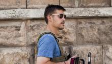Fotografía de archivo facilitada por GlobalPost del 2 de enero de 2013 que muestra al periodista estadounidense James Foley, secuestrado en noviembre de 2012 por yihadistas en Siria.