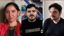 María Fragoso, Rubén Flores Martínez y Mariano Caballero son tres de los seis Latinos menores de 30 destacados en Forbes por sus logros durante el 2020. Fotos: Forbes.