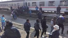 Foto tomada el 5 de Noviembre de 2015 en la estación de Šid, municipio serbio en la frontera con Croacia, en la U.E. Miles de refugiados sirios y afganos intentan alcanzar Europa por la vía de los Balcanes. Ahora también los cubanos. Foto: Andrea Rodés