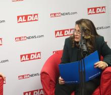 Dr. Patricia Guerra-García of Independence Blue Cross visited AL DÍA News on Dec. 2. Photo: Jensen Toussaint / AL DÍA News