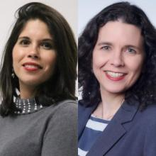 Dr. Natalia Ortiz-Torrent and Dr. Johanna Vidal Phelan.