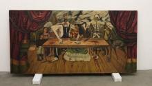 Una rara avis en la trayectoria de la pintora, cuyas obras tienen en su mayoría un formato más pequeño. Foto: La Voz de Galicia.