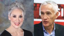 Michele Bobadilla (photo credit: https://www.ushccfoundation.org/index.php/about-us/team) and Jorge Ramos (AL DÍA News file photo)