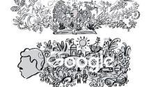 Original sketches for the anniversary doodle of Gabriel García Márquez.