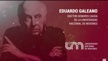 Poster of the event in honor of Eduardo Galeano.