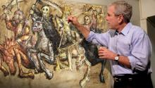 No, no lo pintó George Bush sinoGodcharon. Pero la broma está bien, ¿eh? Photo: Reddit.