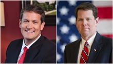 Michael Williams, senador estatal, y Brian Kemp, secretario de estado de Georgia, son los dos candidatos republicanos a la gobernación del estado.