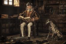 Quixote Reading Chivalry Books