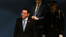 NEW YORK, NY - SEPTEMBER 25: Guatemalan President Jimmy Morales enters the United Nations General Assembly. (Photo by Stephanie Keith/Getty Images)