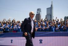 Former U.S. Vice President and Democratic presidential candidate Joe Biden arrives for a campaign kickoff rally, May 18, 2019 in Philadelphia, Pennsylvania. Photo: Drew Angerer/Getty Images.