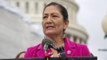 If confirmed, Representative Deb Haaland would make history as first Native American Sec. of the Interior. Photo: Stefani Reynolds / Getty Images
