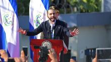 Salvadoran President Nayib Bukele announced the ban on foreigners on March 11, 2020. Photo: Marvin Recinos/Getty Images.