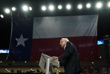 Democratic presidential candidate Sen. Bernie Sanders (I-VT) speaks during a campaign rally at the University of Houston on February 23, 2020 in Houston, Texas. Photo: Drew Angerer/Getty Images.