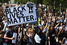 BLM protesters. Photo: Daniel Leal-Olivas/Getty Images