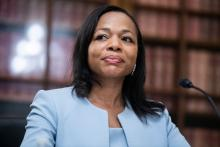 Kristen Clarke was confirmed Tuesday, May 25, as the first Black woman head of DOJ Civil Rights Division. Photo: Tom Williams/Getty Images