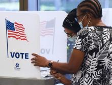 SB 90 will disproportionately impact Black and Latinx voters. Photo: NurPhoto via Getty Images