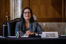 Deb Haaland made history in 2018 as one of the two first Native American women elected to Congress. Photo: Graeme Jennings/Getty Images.