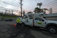 Massive blackout in Puerto Rico after an explosion at the Monacillo power distribution located in San Juan, Puerto Rico, on June 10, 2021. About 400,000 customers in Puerto Rico were without power as of late Thursday, LUMA Energy said. (Photo by Alejandro Granadillo/NurPhoto via Getty Images)